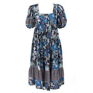 Ulla Johnson Floral Nora Empire Short Sleeve Dress